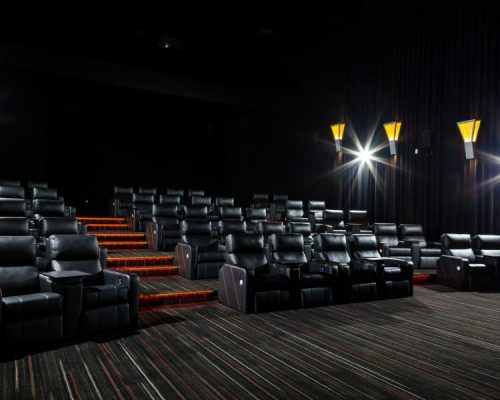 Reading Cinema Newmarket Brisbane Lounge and cinema room electrical works completed by Taylor Made Electrical