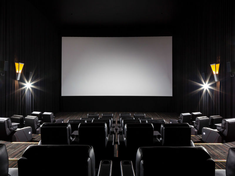 Completed Commercial electrical work cinema Brisbane