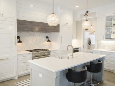 Kitchen Lighting Inspiration White marble and gold